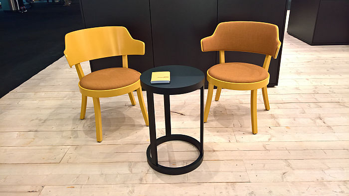 Seley by Frédéric Dedelley for Horgenglarus - with or without backrest upholstery, as seen at IMM Cologne 2020