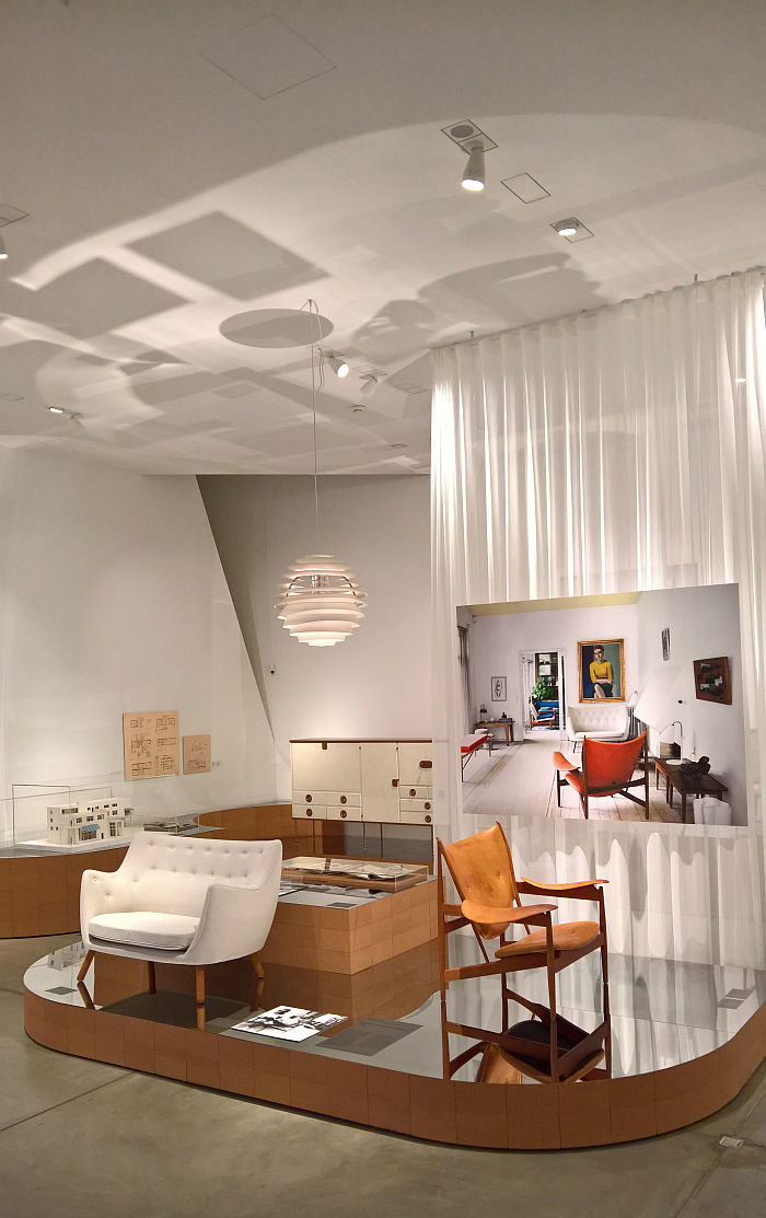 Finn Juhl's house, as seen at Home Stories: 100 Years, 20 Visionary Interiors, Vitra Design Museum
