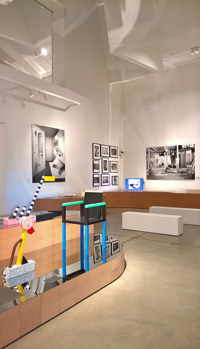 Memphis and Andy Warhol's Silver Factory, as seen at Home Stories: 100 Years, 20 Visionary Interiors, Vitra Design Museum
