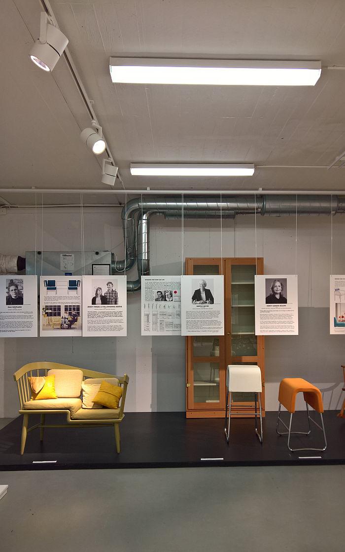 Works by Jenny Fingal & Eva-Johanna Isestig, Grethe Meyer and Kersti Sandin Bülow, as seen at Female Traces, the Museum of Furniture Studies, Stockholm