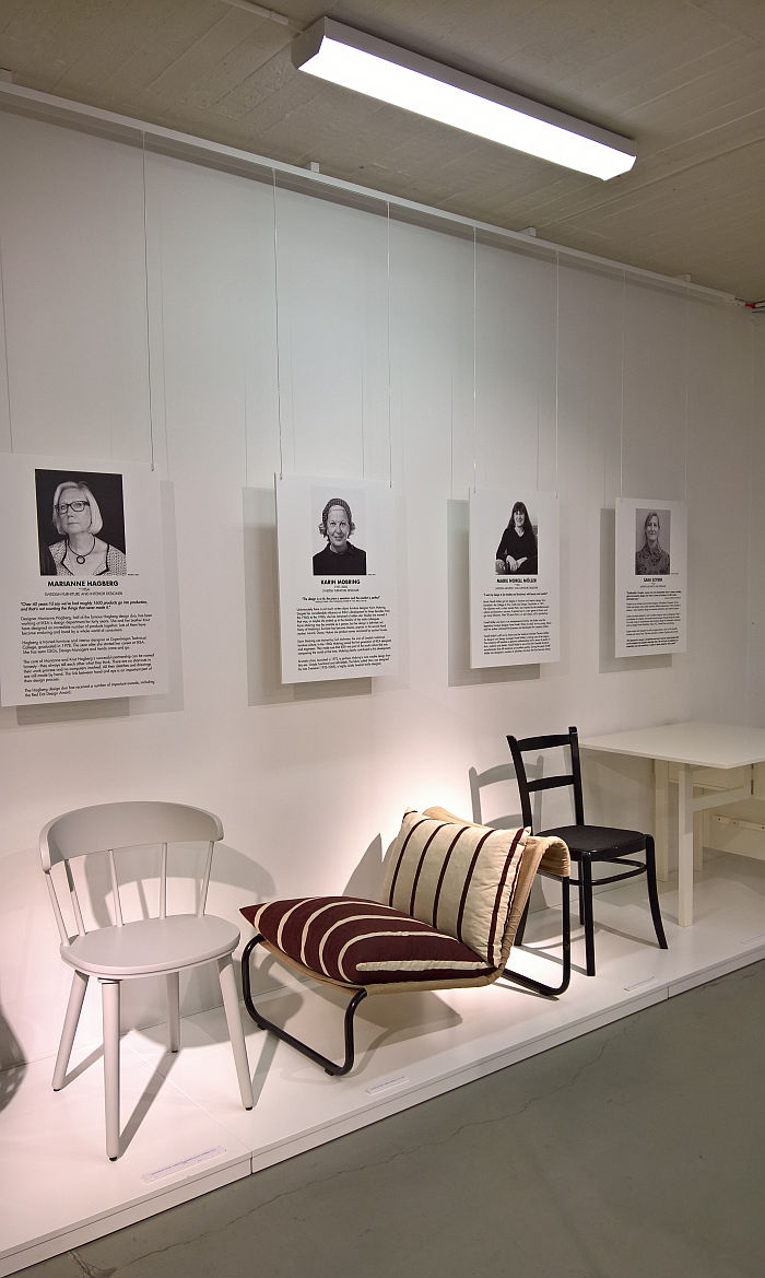 Krumelur by Karin Mobring for IKEA (middle), as seen at Female Traces, the Museum of Furniture Studies, Stockholm