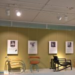 Works by Lilly Reich, Charlotte Perriand & Eileen Gray, as seen at Female Traces, the Museum of Furniture Studies, Stockholm
