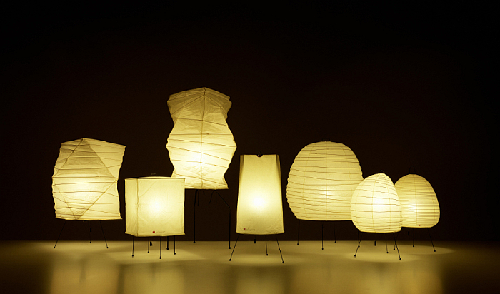 Akari = Light. A selection of Akari light sculptures by Isamu Noguchi