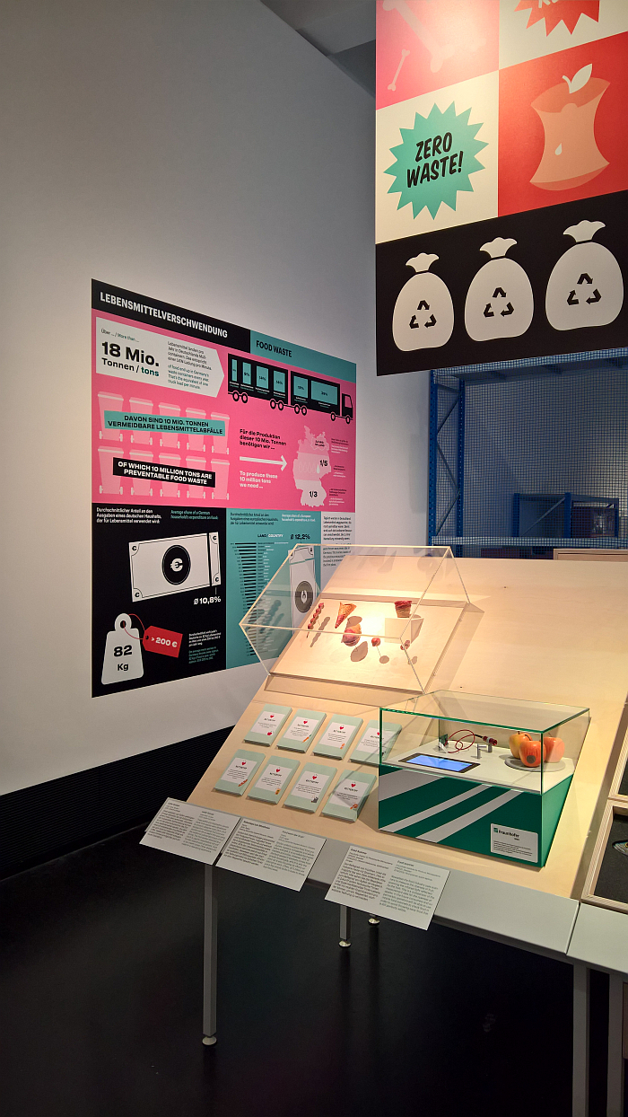Food waste, and how to reduce it, as seen at Future Food. What will we eat tomorrow?, Deutsches Hygiene-Museum, Dresden