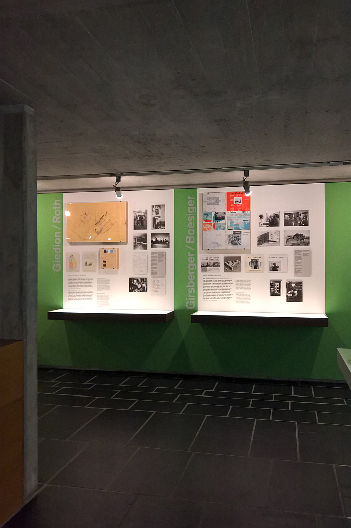 Presentations on Sigfried Giedion & Hans Girsberger, as seen at Le Corbusier and Zürich, Museum für Gestaltung, Pavillon Le Corbusier, Zürich
