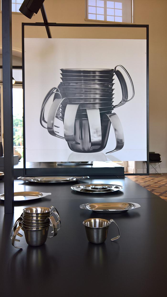 Soup servers by Christa Petroff-Bohne for Auer Besteck- und Silberwarenwerke, as seen at Beauty of Form. The Designer Christa Petroff-Bohne, Kunstgewerbemuseum Dresden