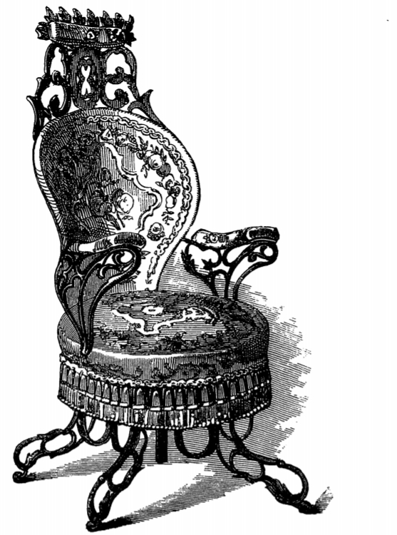 The Centripetal Spring Chair by Thomas E. Warren for the American Chair Company as depicted in the catalogue to the 1851 Great Exhibition in London
