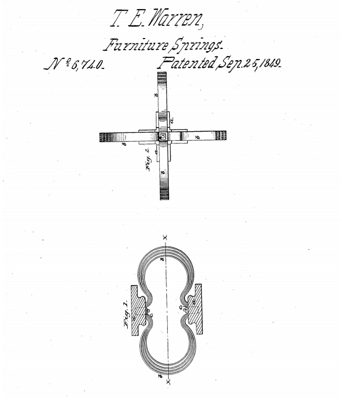 US Patent 6740 awarded to Thomas E. Warren on September 25th 1849
