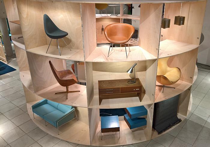 The SAS Royal Copenhagen, the round version, as seen at Arne Jacobsen - Designing Denmark, Trapholt, Kolding