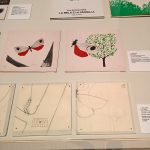 Preparation material for La mela e la farfalla, as seen at Enzo Mari curated by Hans Ulrich Obrist with Francesca Giacomelli, Triennale Milano, Milan