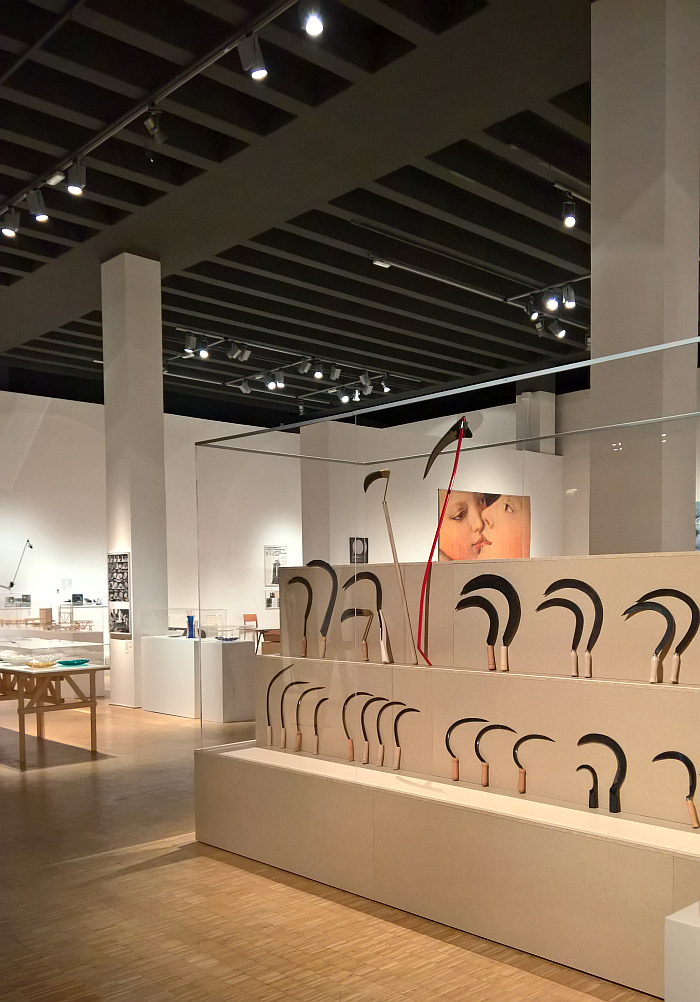 Why an exhibition of scythes?, as seen at Enzo Mari curated by Hans Ulrich Obrist with Francesca Giacomelli, Triennale Milano, Milan