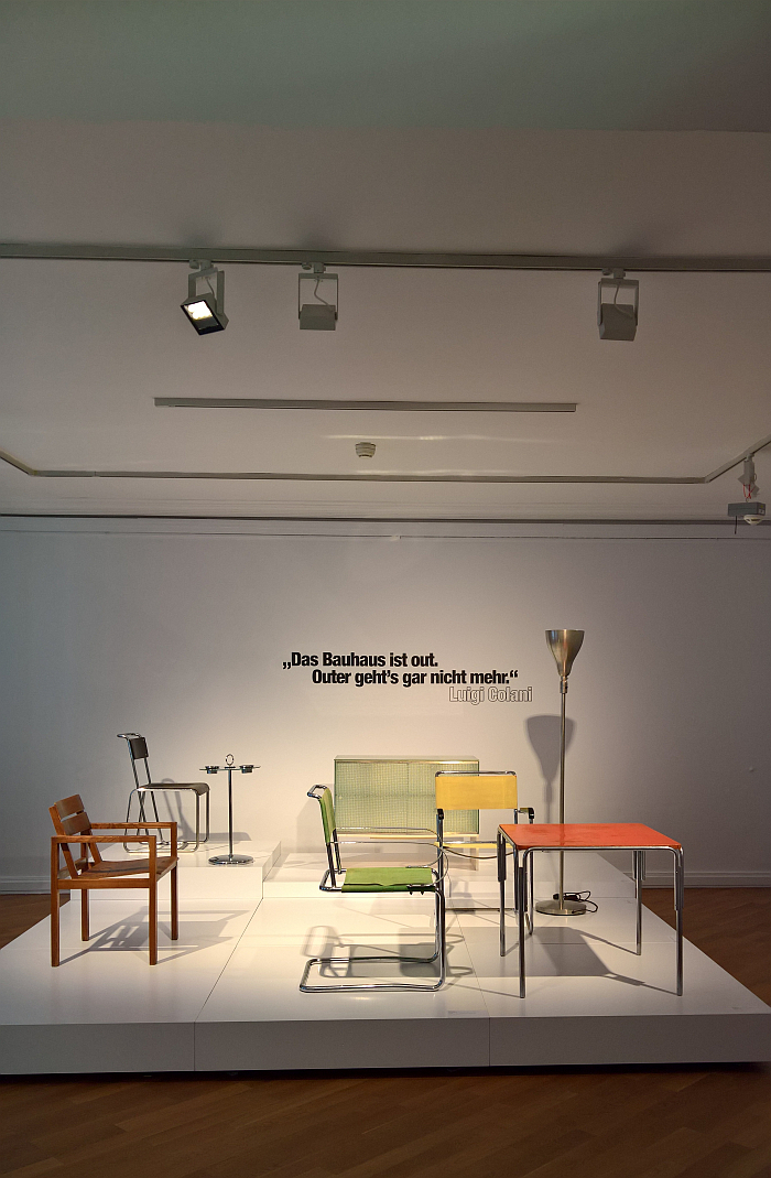 """Das Bauhaus ist out"", discuss..... as seen at Luigi Colani and Art Nouveau, Bröhan-Museum, Berlin"