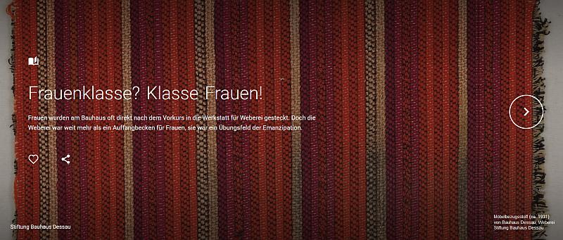 Frauenklasse? Klasse Frauen! Stiftung Bauhaus Dessau