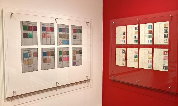 Colour samples and draft interior proposals, as seen at Peter Gustaf Dorén Interior Design in Hamburg circa 1900, Museum für Kunst und Gewerbe Hamburg