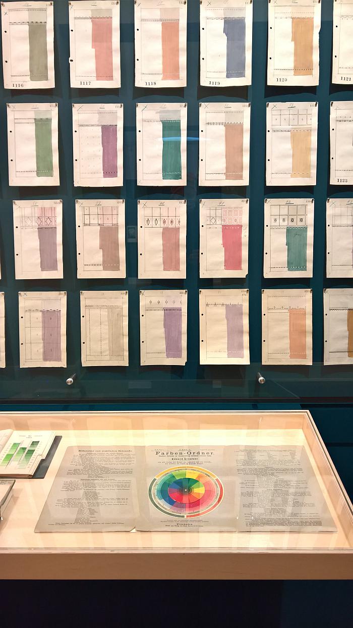 Colour samples and colour order systems, as seen at Peter Gustaf Dorén Interior Design in Hamburg circa 1900, Museum für Kunst und Gewerbe Hamburg