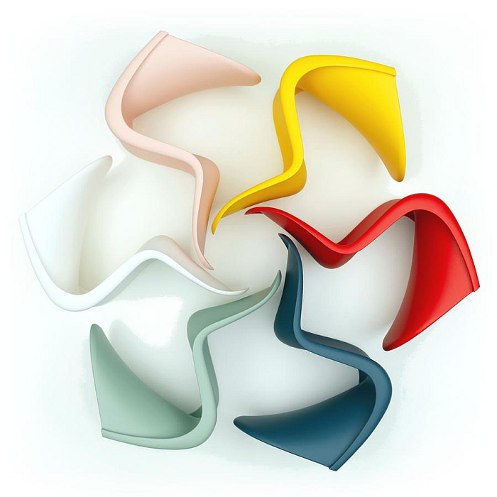The Panton Chair by Verner Panton for Vitra .... but on which one would you sit most comfortably......?