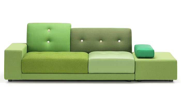The Polder Sofa by Hella Jongerius for Vitra.... Proof, were it needed, that Hella Jongerius doesn't have a favourite colour.....