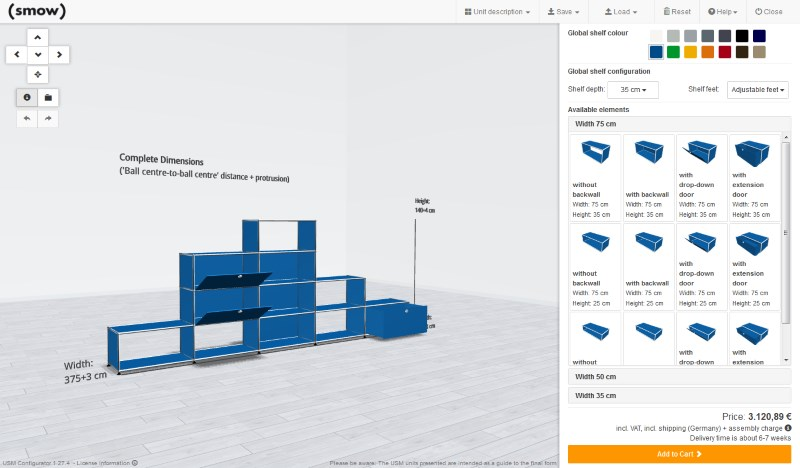 smow USM Configurator - With size calculation