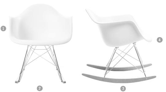 Eames Rocking Chair : Vitra eames plastic armchair rar ocean new height chrome