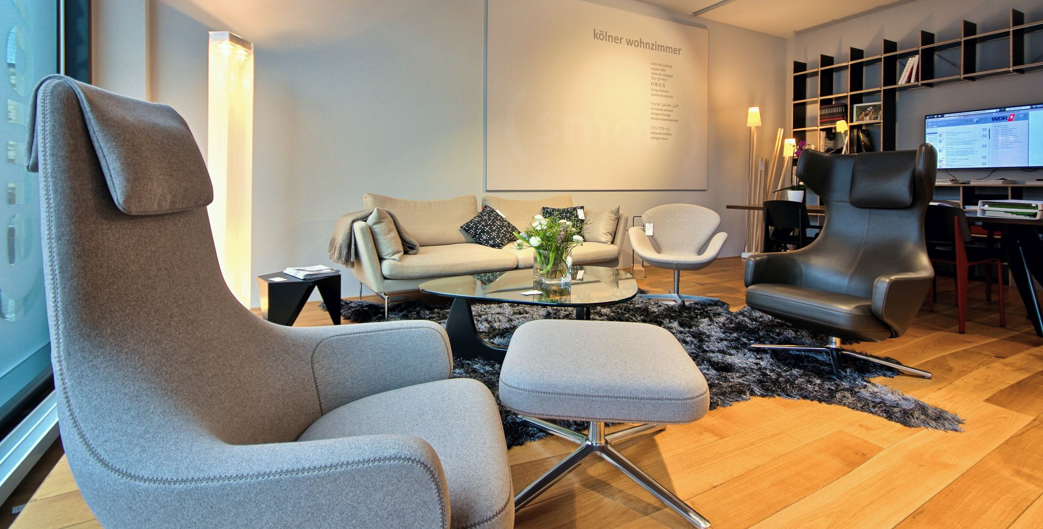 Lounge area smow showroom Cologne