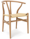 CH24 Wishbone Chair, Oiled beech, Nature mesh