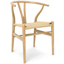 CH24 Wishbone Chair, Oiled oak, Nature mesh