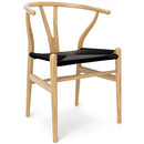 CH24 Wishbone Chair, Oiled oak, Black mesh