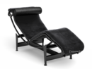 LC4 Chaise Longue, Noir, Black hide
