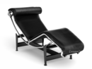 LC4 Chaise Longue, Chrome-plated, Leather Scozia black