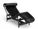 LC4 Chaise Longue, Noir, Leather black