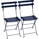Bistro Folding Chair Set of 2, Deep blue