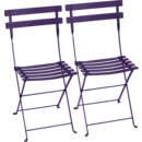 Bistro Folding Chair Set of 2, Aubergine