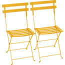 Bistro Folding Chair Set of 2, Honey