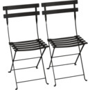 Bistro Folding Chair Set of 2, Liquorice
