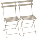 Bistro Folding Chair Set of 2, Nutmeg