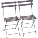 Bistro Folding Chair Set of 2, Plum