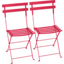 Bistro Folding Chair Set of 2, Pink praline