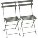 Bistro Folding Chair Set of 2, Rosemary