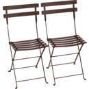 Bistro Folding Chair Set of 2, Russet