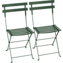 Bistro Folding Chair Set of 2, Cedar green