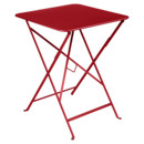 Bistro Folding Table rectangular, H 74 x W 57 x D 57 cm, Poppy