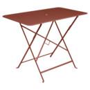 Bistro Folding Table rectangular, H 74 x W 97 x D 57 cm, Red ochre
