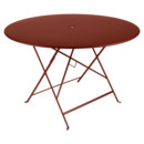 Bistro Folding Table round, H 74 x Ø 117 cm, Red ochre