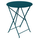 Bistro Folding Table round, H 74 x Ø 60 cm, Acapulco blue