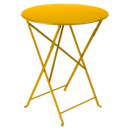 Bistro Folding Table round, H 74 x Ø 60 cm, Honey
