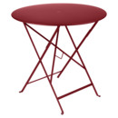 Bistro Folding Table round, H 74 x Ø 77 cm, Chili