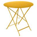 Bistro Folding Table round, H 74 x Ø 77 cm, Honey