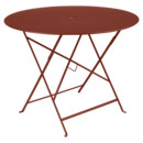 Bistro Folding Table round, H 74 x Ø 96 cm, Red ochre