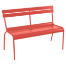 Luxembourg Bench with Backrest, Capucine