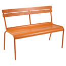 Luxembourg Bench with Backrest, Carrot